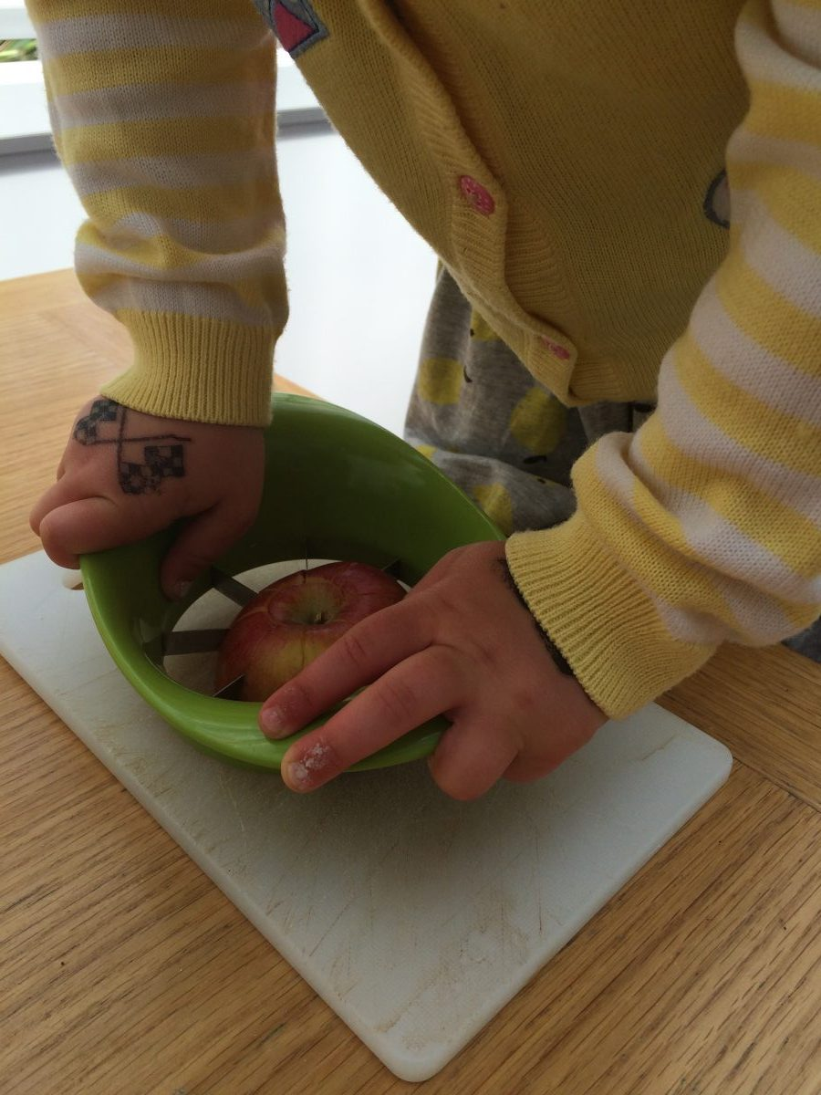 Coco using Apple Cutter